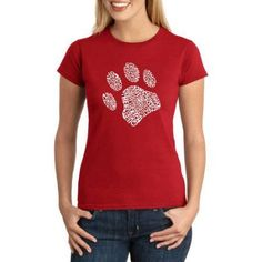 Los Angeles Pop Art Juniors' Animals Word Art Graphic Tee, Size: Small, Red