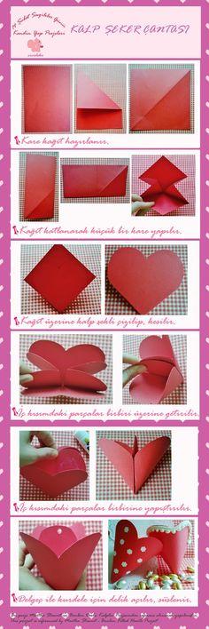 Cicideko: Sevgililer Günü 1.Projesi - Kalp Şeker Çantası (Valentine's Day Heart Tutorial)