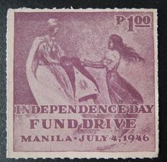 Philippines Stamp Fund Drive July 4 1946 Unused No Gum | eBay