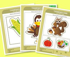 Thanksgiving Cutting Pages from HP.com