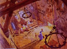 """Sword in the Stone"" visual development by Ken Anderson."