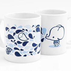 Elephant Mug by Silvia Portella #Mug #Elephant #Silvia_Portella