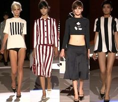 Marc Jacobs goes monochrome stripes for Spring / Summer 2013 at New York Fashion Week   Catwalk Queen