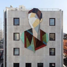 Working with recycled wood doors and paneling pulled from old houses, Belgian artist Stefaan De Croock aka Strook (previously) constructs both large and small-scale geometric portraits. Each piece is designed individually using multiple fragments of cut wood which he mixes and matches to form a sort