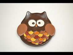 How to Paint Pottery:  Fall Owl Plate.  Fall colors were our inspiration for this ceramic owl plate, and we used a fun writer to outline the feathers with dark brown to really make it pop! It's easier than you think! Also, did we mention that this plate is food-safe? All of our dish ware is functional for your every day use or special occasions.  Leave a comment below answering the question of the day to enter to win the fall owl plate from the video for free!