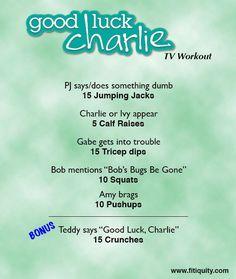 Enjoy Good Luck Charlie but still work out! #BeFitEverywhere #Fitiquity