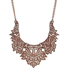 Ruby Rocks Jewellery Rose Gold Intricate Cut Necklace ($27) ❤ liked on Polyvore featuring jewelry, necklaces, vintage pendant necklace, pendants & necklaces, cross chain necklace, vintage cross necklace e cross necklace