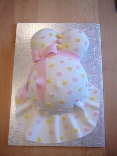Very cute idea for a baby shower cake
