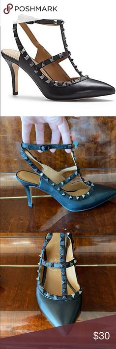Ladies Shoes Girls Spike Stud Platform Court Shoes Designer Look