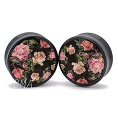 Black Floral Tapestry XL BMA Plugs (27mm-60mm) (1 1/16