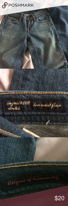 Citizens of humanity jeans Great condition low waist flair size 24 Citizens of Humanity Jeans Flare & Wide Leg