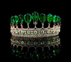 Princess Katharina Henckel Von Donnersmarck's Tiara Dubbed the most valuable emerald and diamond tiara in over 30 years in May 2011 by Sotheby's. The tiara is composed of 11 exceptionally rare Colombian emerald pear-shaped drops weighing over 500 carats in total. It sold for $12.7 million.