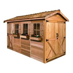 Cedar Shed 12 x 8 ft. Boathouse Garden Shed | from hayneedle.com