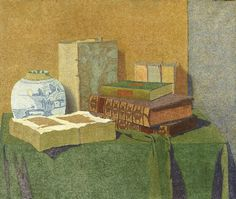 HENDRICUS PETRUS BREMMER Still Life with Books and Chinese Vase (1895)