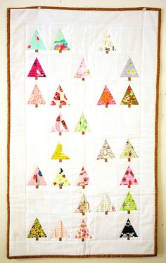 Easy Christmas Quilt...I did it appliqué instead and it was quick!