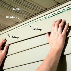 Vinyl Siding Repair, Vinyl Siding Installation, Diy Household Tips, Cleaning Tips, Roof Flashing, Barn Kits, Top Course, Diy Home Repair, Home Repairs