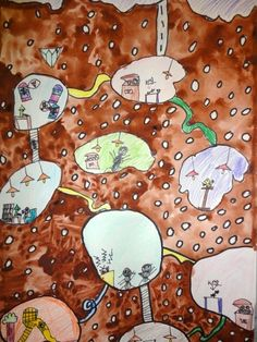 Thomas Elementary Art - secret underground lives of ants - cool way to integrate science and literature with personification.