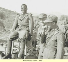 Nazi soldiers Colored black
