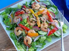 Thai Basil Shrimp Salad