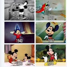 Evolution Of Mickey Mouse