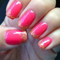 DIY Nails Art :DIY Glitter Nail Art