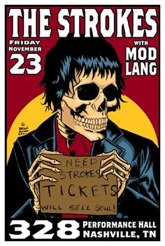 The Strokes. Cool concert poster!