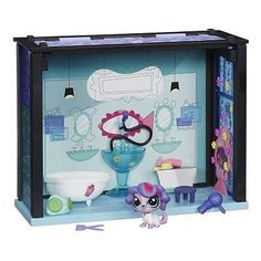 Littlest Pet Shop Play Set, Say Ahh to The Spa Style  Set, New, Free Shipping