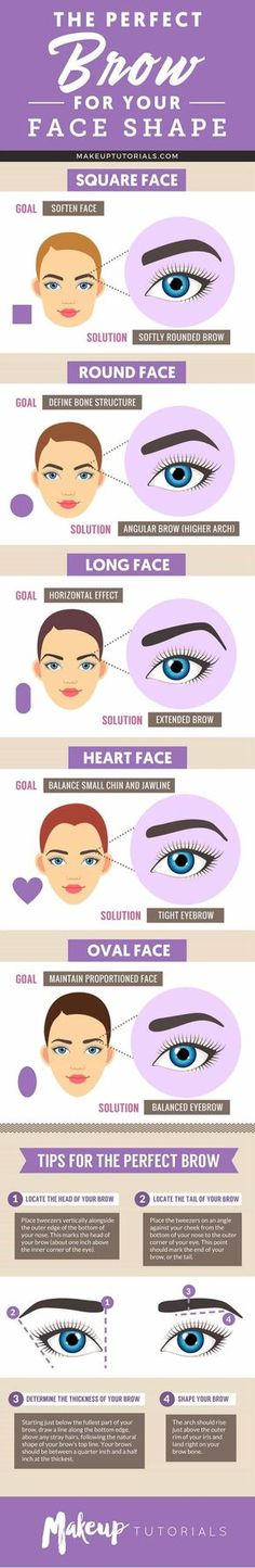 Best Brows for Your Face Shape | Best Makeup Tutorials And Beauty Tips From The Web | Makeup Tutorials