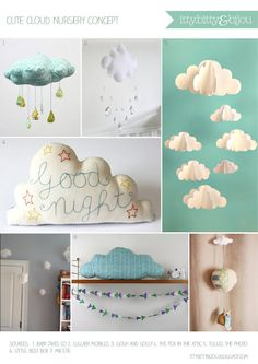 Itty Bitty Bijou: Cute Cloud Nursery Concept...
