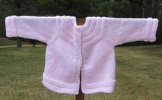 Pink Baby Sweater by KingstonAlpacaKnits on Etsy