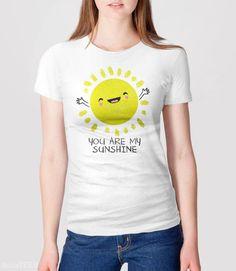 You Are My Sunshine T-Shirt with cute kawaii sun | Pictured: Women's Tee.