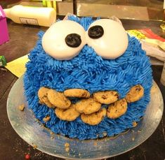 Cookie Monster Smash Cake Love This Sweet Deserts