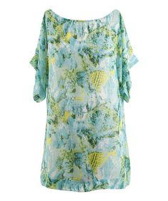 Loving this Aqua Sea Isle Boatneck Cover-Up - Plus on #zulily! #zulilyfinds