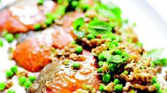 Ocean trout with smoky eggplant