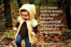 To allow children to explore nature , it can help much more in their development than staying indoors Education Quotes, Kids Education, Outdoor Education, Outdoor Classroom, Walking In Nature, Children And Family, Classroom Activities, Early Childhood, Cute Kids