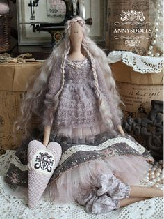 Handmade Tilda Doll  Elaine1 от Annysdolls на Etsy