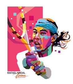 WPAP Rafael Nadal by ~wedhahai on deviantART