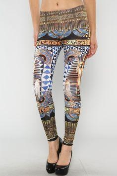 Egyptian Print leggings