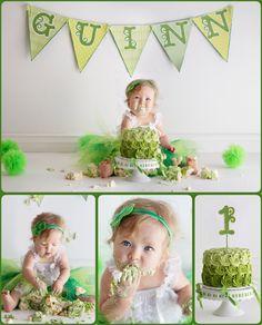 Smash the Cake! St. Patrick's Day Baby!