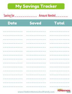 Free Printable Savings Tracker for Kids | This free printable savings tracker for kids will help children set goals and visualize how close they are getting to each one with every bit of money they save.