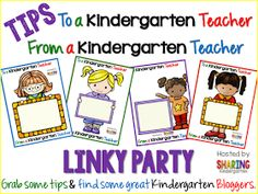 Tips to a Kindergarten Teacher Linky Party! (Teaching with Love & Laughter)