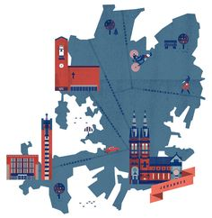 Helsinki Maps by Lotta Nieminen, via Behance