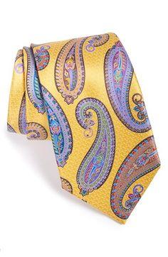 Ermenegildo Zegna Paisley Print Silk Tie