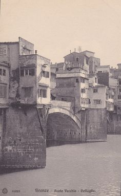 FLORENCE, ITALY - Firenze, Ponte Vecchio, Detail, Bridge, Buildings, Vintage Postcard, rppc, 1910s by AgnesOfBohemia, $3.99