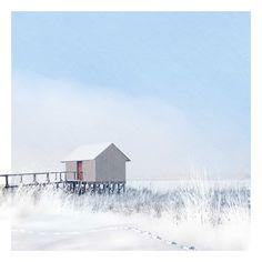 cabin on stilts by Het Lege Atelier