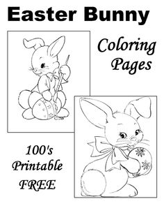 Easter Bunny coloring pages!