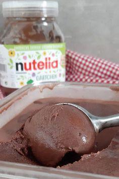 Nutella Eis selber machen mit und ohne Eismaschine Cinnamon Cream Cheese Frosting, Cinnamon Cream Cheeses, Snack Recipes, Dessert Recipes, Snacks, Vegetarian Recipes, Nutella Cookies, Ice Cream Maker, Chocolate Hazelnut