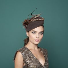 Les Arcs - Beret Hat with Pheasant Feather Trim £633.00