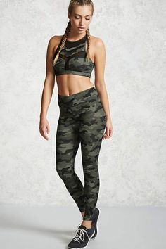 Look and feel your best in Forever 21 activewear and workout clothes for women! Get fit in our sports bras, leggings, shorts, crop tops & more. Sporty Outfits, Nike Outfits, Fashion Outfits, Legging Outfits, Camo Leggings, Printed Leggings, Leggings Capri, Black Leggings, Camouflage