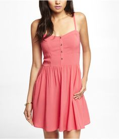 RAYON CAMI SUNDRESS - PINK | Express